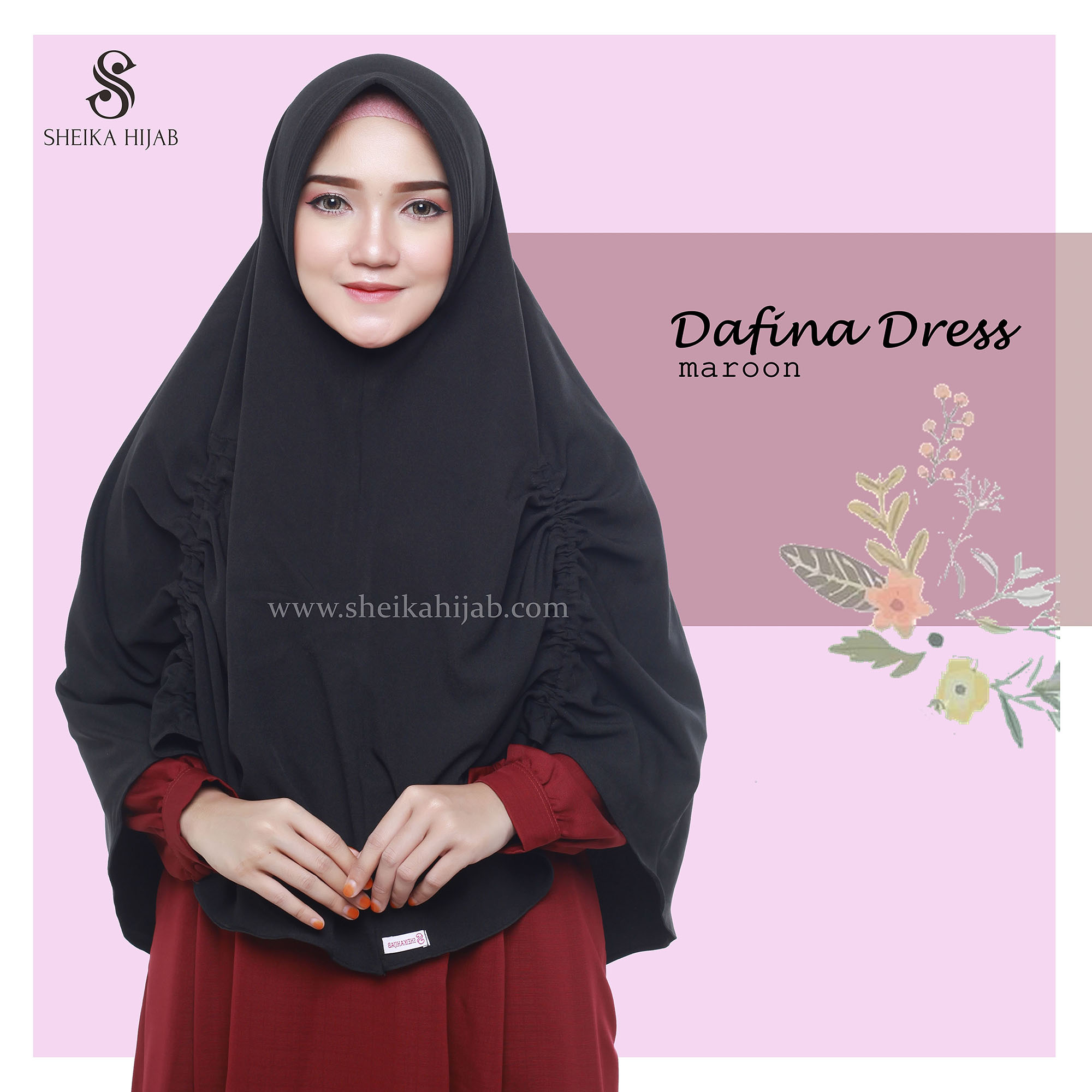 Dafina Dress (Only) - Maroon