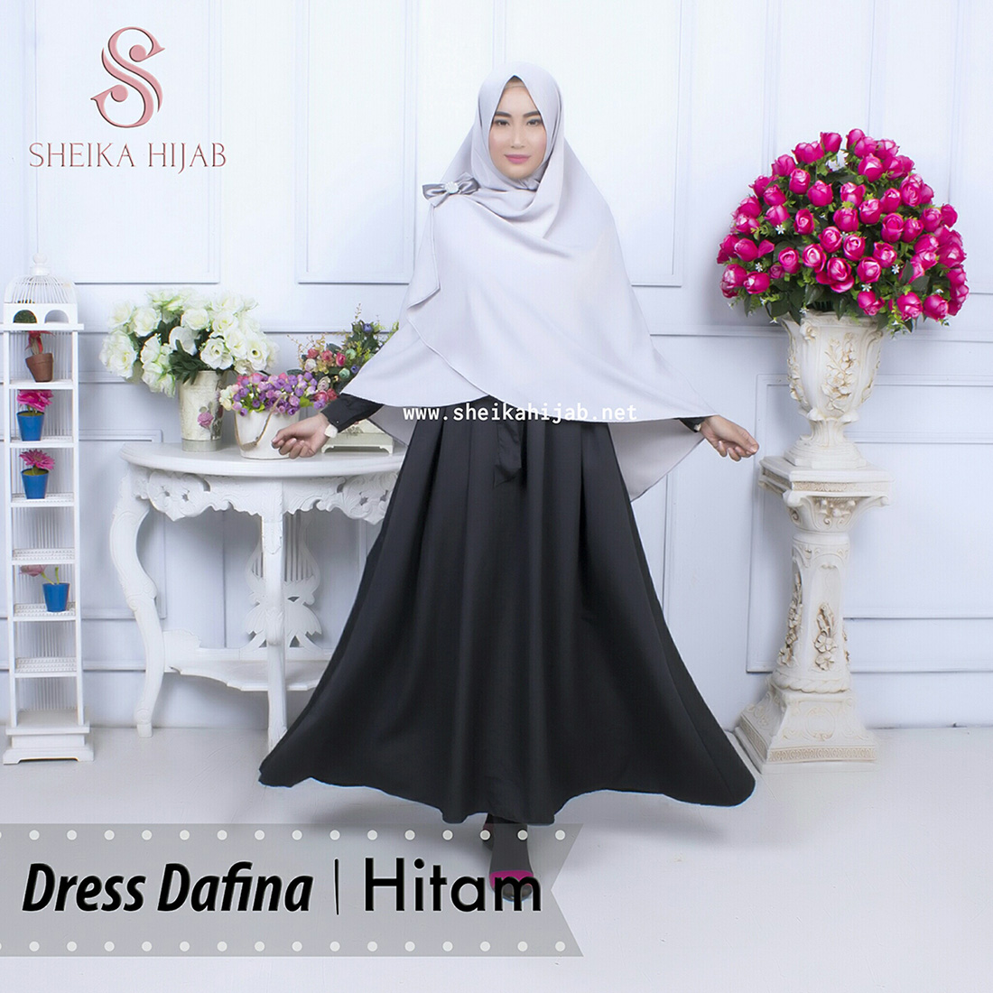 Dafina Dress (Only) - Hitam