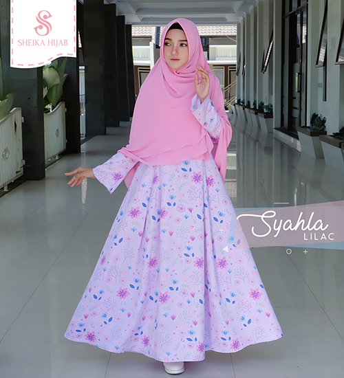 Dress Syahla - Lilac (Dress Only)