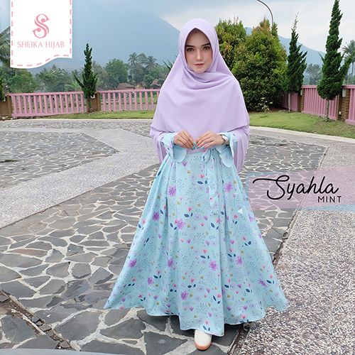 Dress Syahla - Mint (Dress Only)