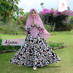 Dress Alana - Set Hitam