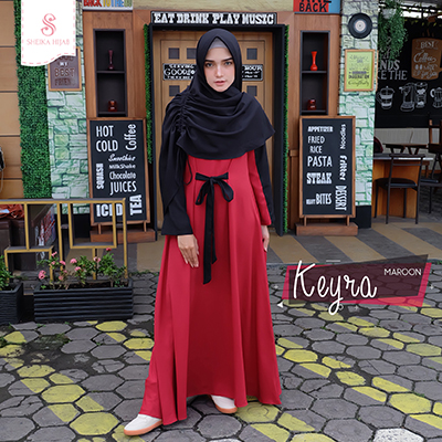 Dress Keyra - Maroon (Dress Only)