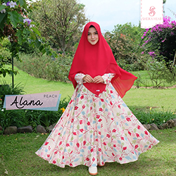 Dress Alana - Peach (Dress Only)